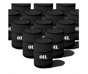 Black oil barrel stack design.