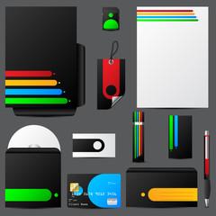 Colorful stationary set