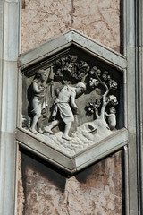 Florence - The hexagonal Relief on the Giottos' Campanile.