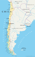 Chile Map (Chile Landkarte)