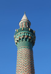 The Minaret of Green Mosque, Iznik.