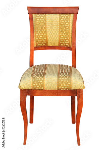 old chair on a white background