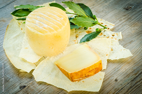 Pecorino sardo cheese, typical sardinian product