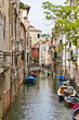 Traditional Venetian buildings along a water channel, Venice