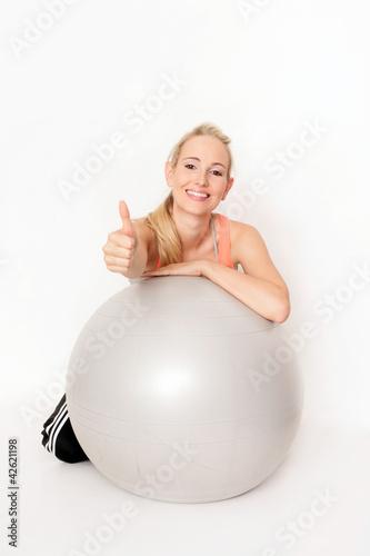 Sport mit Gymnastikball