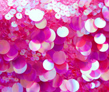 Fototapety Pink sequins pattern texture background