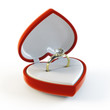 Diamond Ring in heart shape box