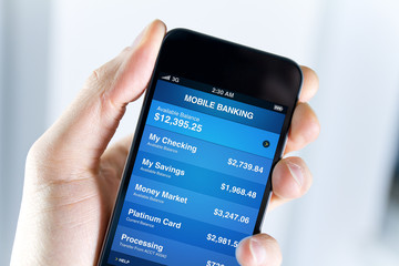 Mobile Banking On Smart Phone