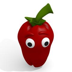 Funny paprika, 3d image