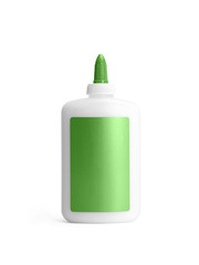 White with green glue container