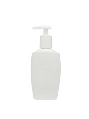 Soap plastic dispenser in white