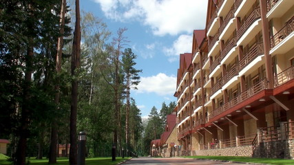 Hotel in the pine wood.