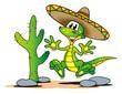 Lizard Sombrero Desert