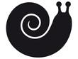 Stilisierte, schwarze Vektorschnecke