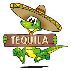 Lizard Sombrero Tequila