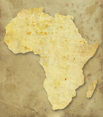 Africa paper map
