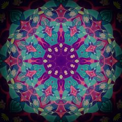 Mandala flower Virid