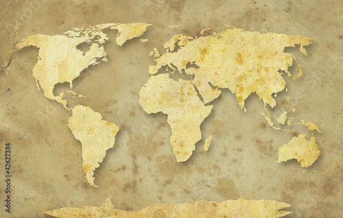 World paper map