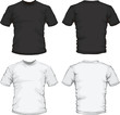 black white male shirt design template