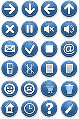 Set of icons. Pictograms of blue color.