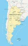 Argentina Map (Argentinien Landkarte)