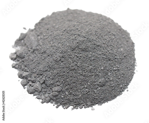 Pile Gunpowder (black powder) Isolated on white background