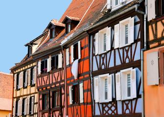 Reihe von Fachwerkhäusern, Colmar, Elsass