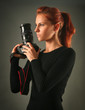 sexy girl with camera