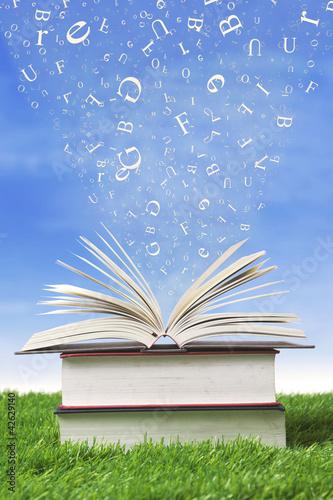 College books outdoor