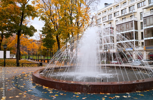 poster of Fountain in Petrovsky park in Voronezh in Russia