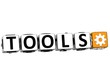 3D Tools Button Click Here Block Text