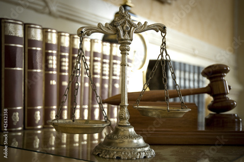 Scales of Justice and Judge`s gavel