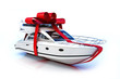 The big gift, Boat with red bow - 42632720