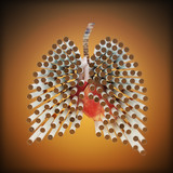 Smoking kills concept ,cigarette's in the form of lungs