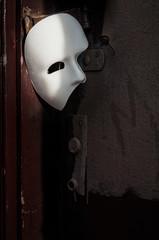 Masquerade - Phantom of the Opera Mask on Vintage Door