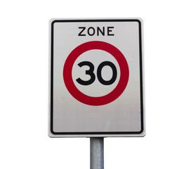Zone 30 speed limit