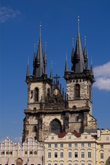 Tyn Church in Prague in Czech Republic