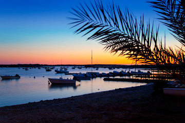 Formentera sunset in se estany des peix