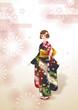 日本の文化着物振り袖
