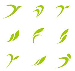 Logo Eco set. Ecology abstract icon collection.