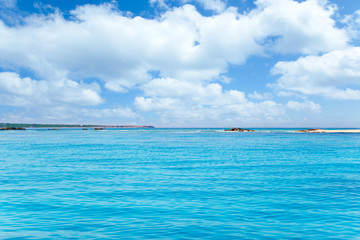 Balearic Formentera island in Espalmador Trucadors