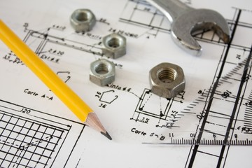 tools and mechanisms detail,engineer drawings