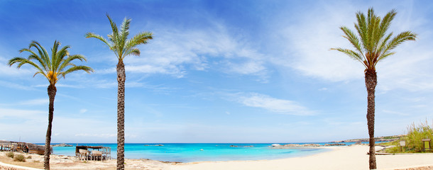 Els Pujols formentera beach with turquoise water