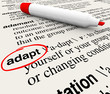 Adapt Dictionary Word Definition Change to Survive