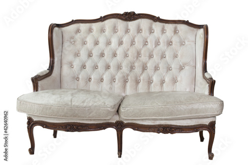 Sofa put on white isolated