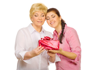 Senior woman with her daughter