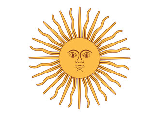 Sun of May vector illustration