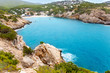 Cala Vadella in Ibiza island with turquoise water