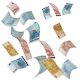 Euro notes falling from above - 42641993