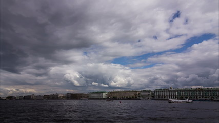 Beautiful clouds over St. Petersburg, Russia